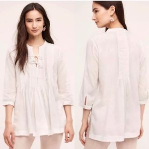 Holding Horses | White Pleated Pullover